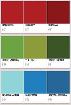 Designer Identifies The PANTONE Colors Of Superheroes