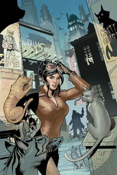 Catwoman by Rachel and Terry Dodson *