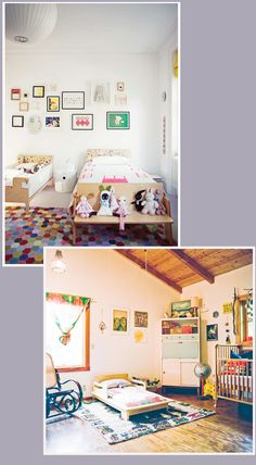shared baby + toddler bedrooms