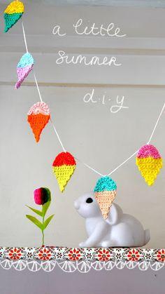 little summer garland | free pattern by ingthings