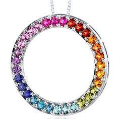 Rainbow Swarovski necklace