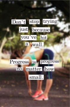 Progress is progress, no matter how small!