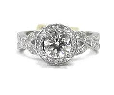 Round cut diamond engagement ring antique