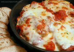Skillet Chicken Parmesan Over Pasta....... Best chicken Parmesan recipe ever!