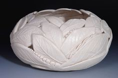 Bowl Ceramic Porcelain White White Pottery by WhiteEarthStudio, $185.00