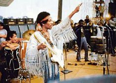 Jimi Hendrix was a very symbolic man in the 60's and for the Hippie movement. Playing whatever came out of him, smoking weed, and being willing to pop at stuff like Woodstock, the man lived life free from the any restrictions, a major factor in why he was so popular.