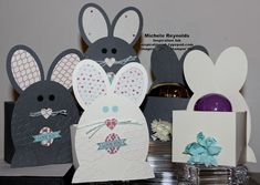 Easter Bunny Egg Holders with Ovals Collection Framelits and Itty Bitty Banners Set.
