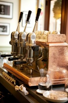 copper espresso machine