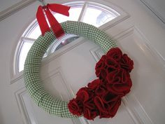 christmas wreath made from foam tubing