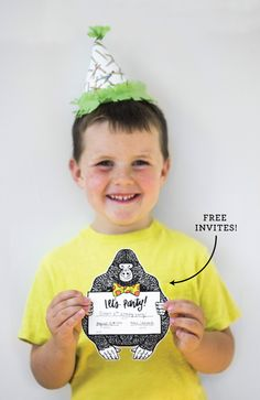 Free Party Invites | from Caravan Shoppe