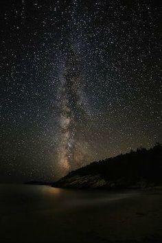 Milky Way over Arcadia National Park / via Nate Levesque
