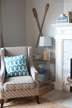 pillow pop, living rooms, living room styles, living room fireplace, homes, live room, family room chairs, the secret, decor idea