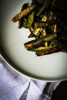 Spicy Oven Roasted Okra Recipe on Yummly