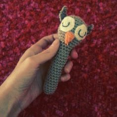 Crochet rattle made by myself. Proud! :)