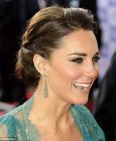 Pretty hair on Princess Catherine