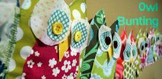 craft, owl bunt, buntings, scrap fabric, princess room