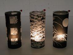 DIY handmade tea light lamps