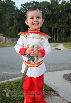 Prince Charming Costume Tutorial (from Cinderella) | Make It and Love It...for Cooper to match Allie...who may someday want to dress as Cinderella. =)