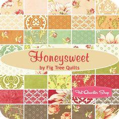 Honeysweet Charm PackFig Tree Quilts for Moda Fabrics | Fat Quarter Shop