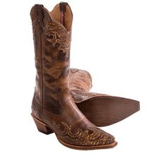 Twisted X Boots Steppin' Out Leather Cowboy Boots - Python Overlay, F-Toe (For Women)
