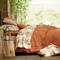 Company Organic Solid Duvet Cover / Comforter Cover | The Company Store