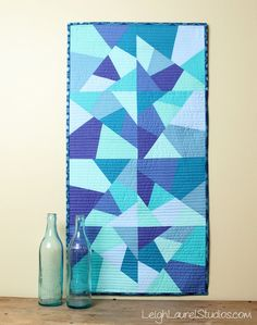 Sea glass table runner by karin jordan - leigh laurel studios - for sizzix
