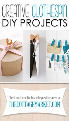 Creative Clothespin DIY Projects