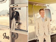 His & Hers Airstream trailers at a wedding!