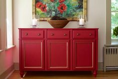 red sideboard | Red Sideboard