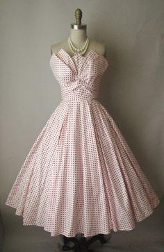 Fred Perlberg polka dot dress by TheVintageStudio on etsy