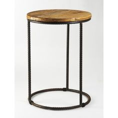 Zentique Inc. Tall Rustique Round End Table