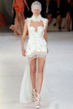 Alexander McQueen S/S 2012 RTW. wedding dressses, alexander mcqueen, wedding receptions, fashion, alexandermcqueen, wedding reception dresses, white weddings, spring 2012, alexand mcqueen