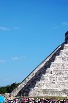 Equinox at Chichen Itza: Witness the arrival of the Mayan god, Kukulcan, as the feathered snake appears to crawl down a pyramid at Chichen Itza.