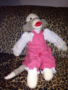 Vintage Sock Monkey by OneVeryBadMonkey on Etsy, $15.00