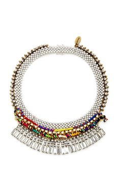 Plated Rope And Crystal Necklace by venna Now Available on Moda Operandi
