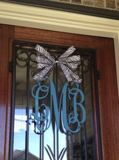 Monogram for our front door. I ordered it from this Etsy shop: http://www.etsy.com/shop/TheMonogramMarket1