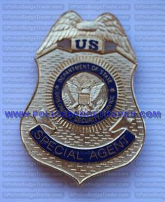 DSS Special Agent badge. Available from www.policebadgetrader.com