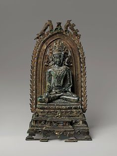 Crowned Buddha, Pala period, Eastern India
