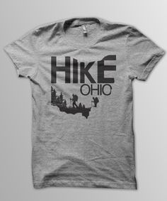 Hike Ohio tee now available at OurLifeOutside!