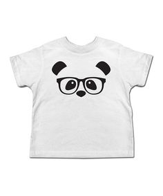 Look what I found on #zulily! White Panda Glasses Tee - Toddler & Kids #zulilyfinds