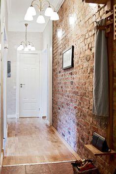 Faux red brick wallpaper get that exposed brick wall Brick wallpaper home depot