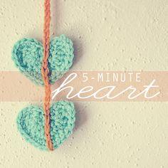 Crochet a heart tutorial