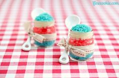love how these jars were used...so cute...