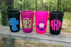 """Rachel shows off her sustainable spirit with these great cups! """"PERSONALIZED ALL THE WAY"""""""