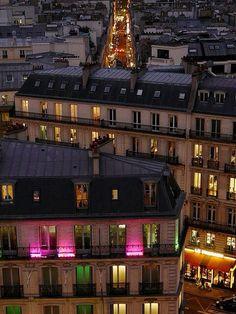 View of the roof of le Printemps, Paris