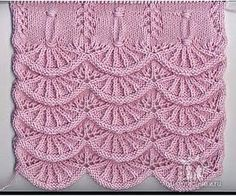 Knitting pattern, this can be nice as ending for a scarf