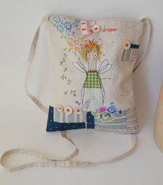 HIP BAG handmade Bag made from vintage embroidery by hensteeth, £58.00