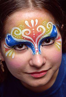 paint idea, face paint, facepaint, mask, bodi paint