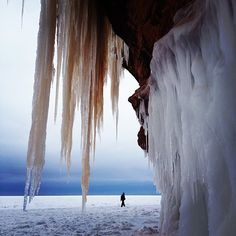 Ice cave Lake Superior
