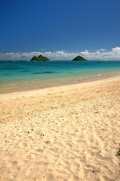 ✯ Lanikai Beach - Oahu, Hawaii One of the best beaches I've ever been to !